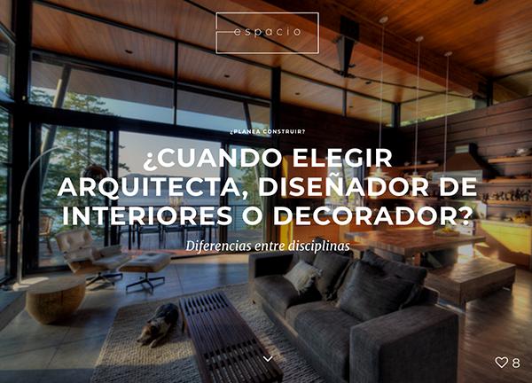 arquitecto o interiorismo o diseño interno