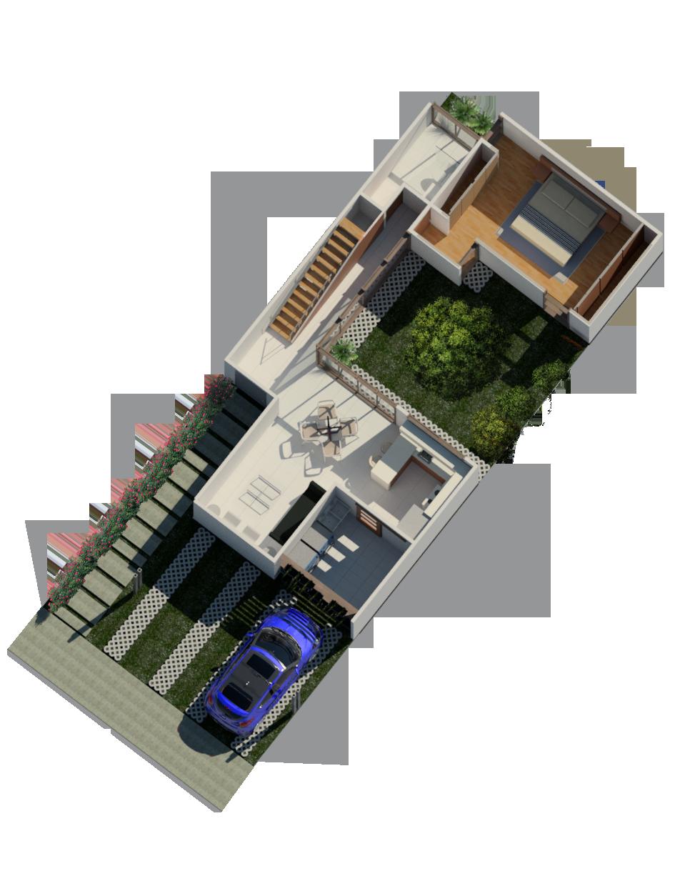 Rudin Arquitectura – Casa Flex – planta1-opción-B