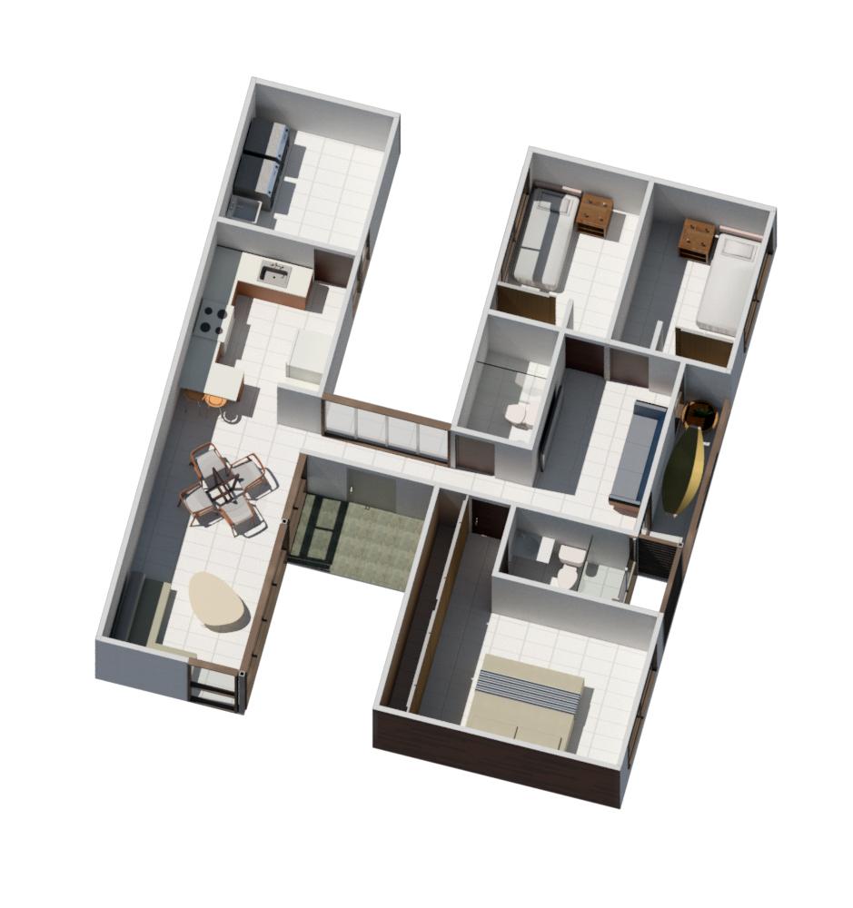 Rudin Arquitectura – casa H planta